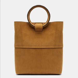 Brand new with tags Theory Mini Tote Cider Suede